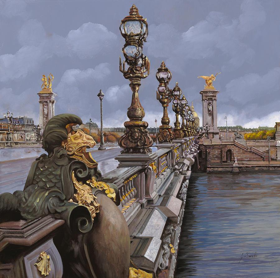 Paris Painting - Paris-pont Alexandre IIi by Guido Borelli