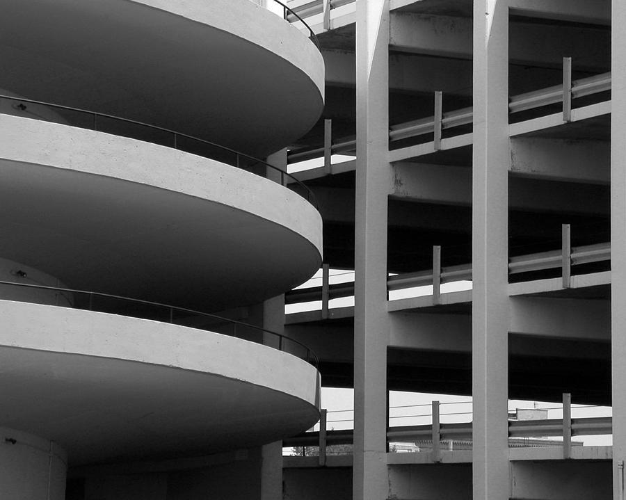 Black Photograph - Parking Garage by David April
