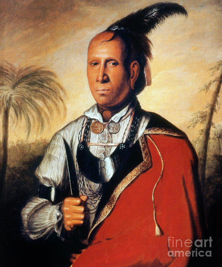 1762 Painting - Parsons - Cherokee 1762 by Granger