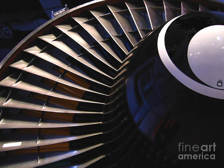 Jet Photograph - Partial View Of Jet Engine by Yali Shi