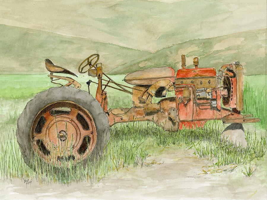 Farmall Tractor Painting : Parts tractor farmall painting by david king