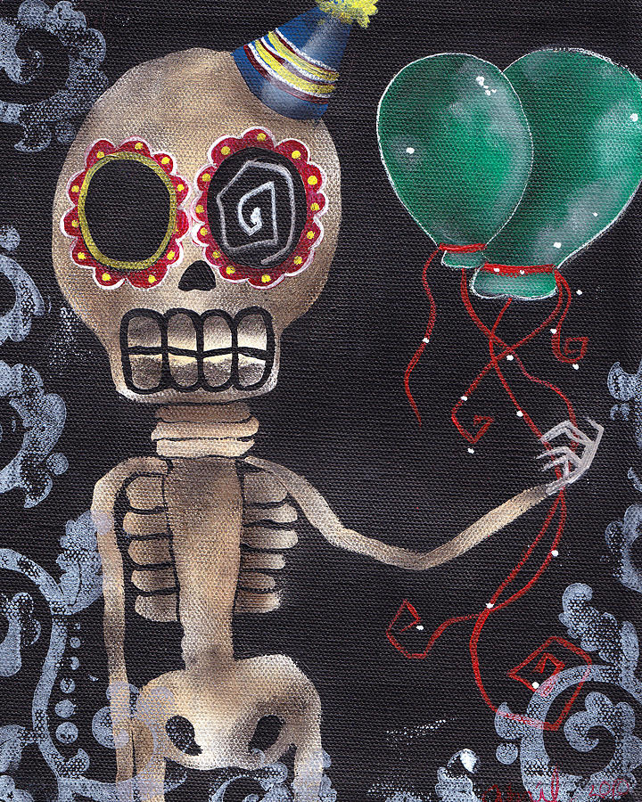 Day Of The Dead Painting - Party Killer by  Abril Andrade Griffith