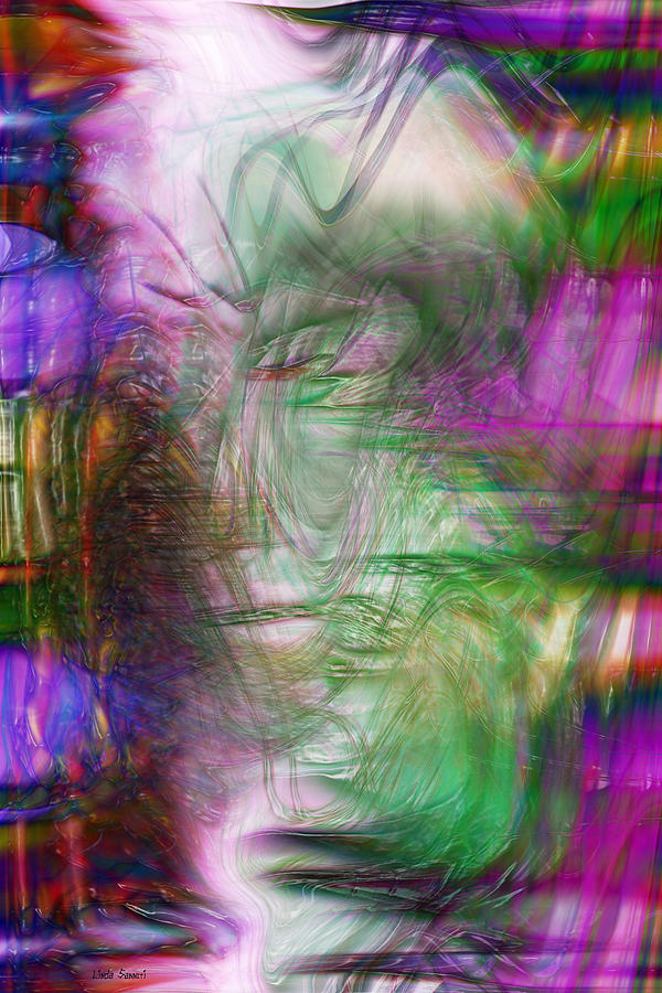 Abstract Art Digital Art - Passage Through Life by Linda Sannuti