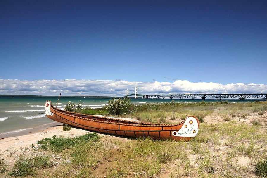 Canoe Photograph - Past And Present by G  Teysen