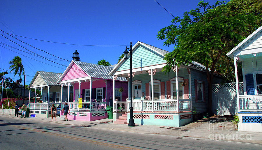 Key West Photograph - Pastels Of Key West by Susanne Van Hulst