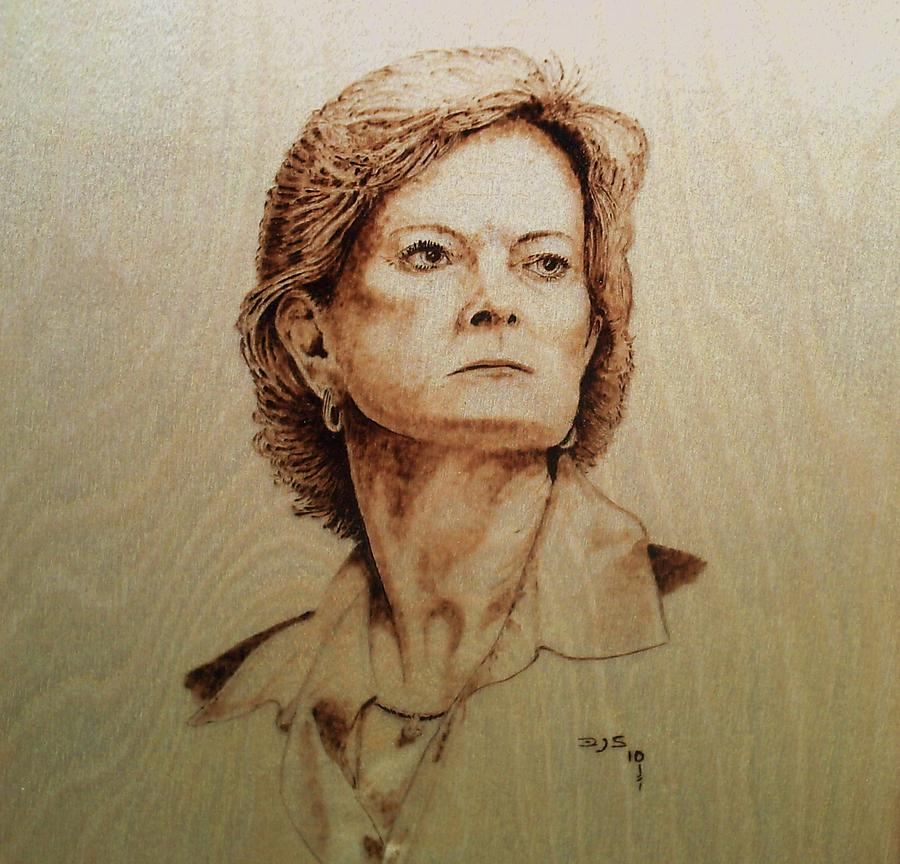 Pyrography Of Pat Summit Pyrography - pat by Freddy  Smith
