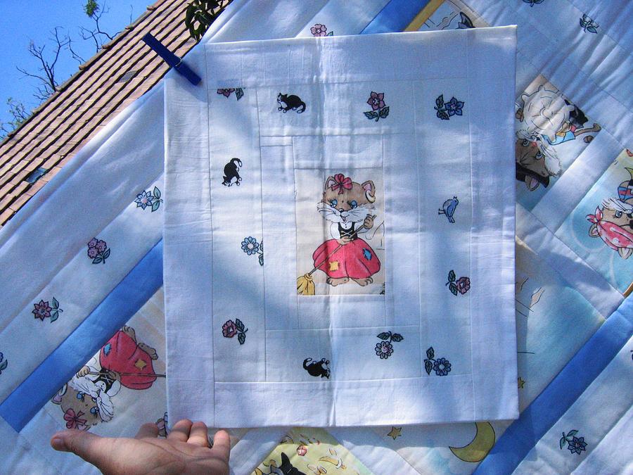 Eva Marcos Tapestry - Textile - Patchwork Qulit 14 - Pillowcase by Eva Sandor