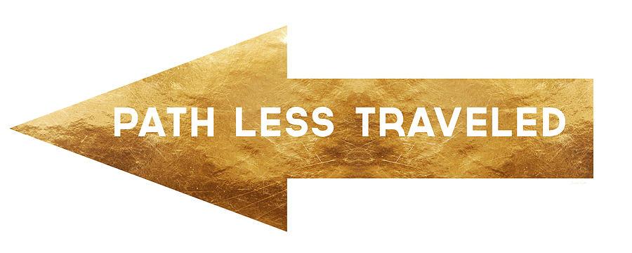 Path Less Traveled-  Art By Linda Woods Mixed Media