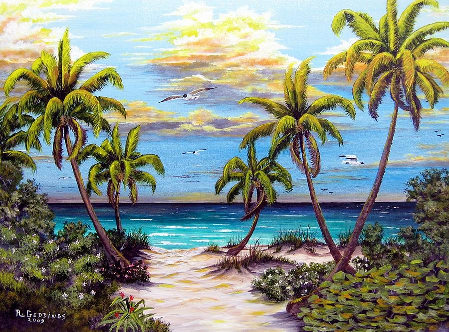 Art Painting - Pathway To The Gulf by Riley Geddings