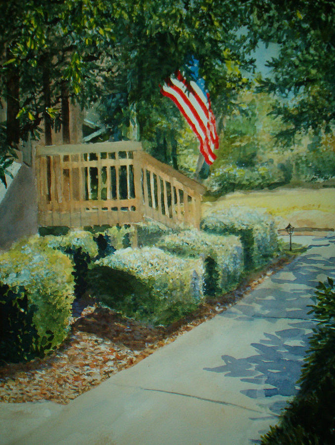 Landscape Painting - Patriot Next Door by Shirley Braithwaite Hunt