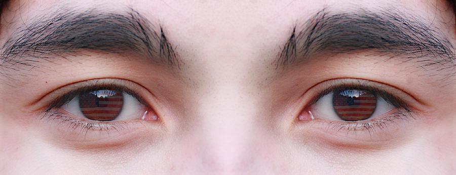 Eyes Photograph - Patriotic Eyes by James BO  Insogna