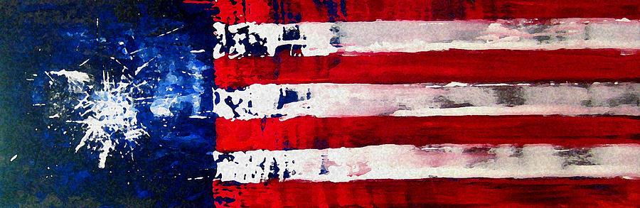 Patriots Theme Painting