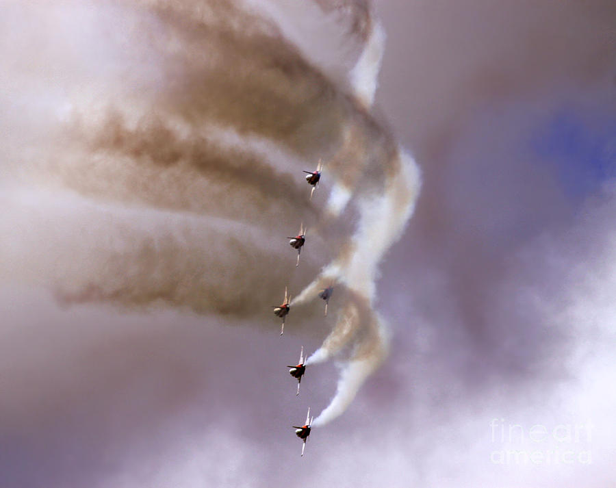 Heat Photograph - Patrouille Suisse by Angel  Tarantella