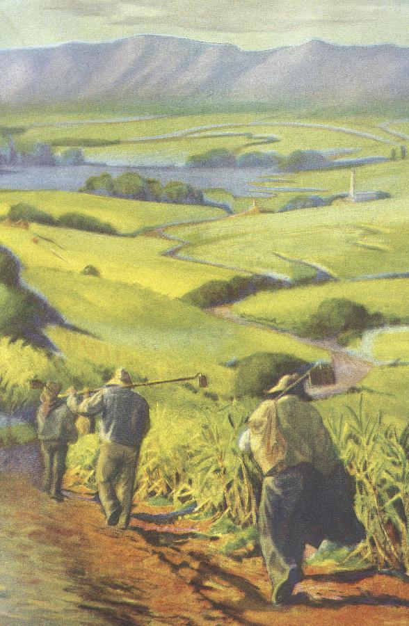 Pau Kanaka Work Painting
