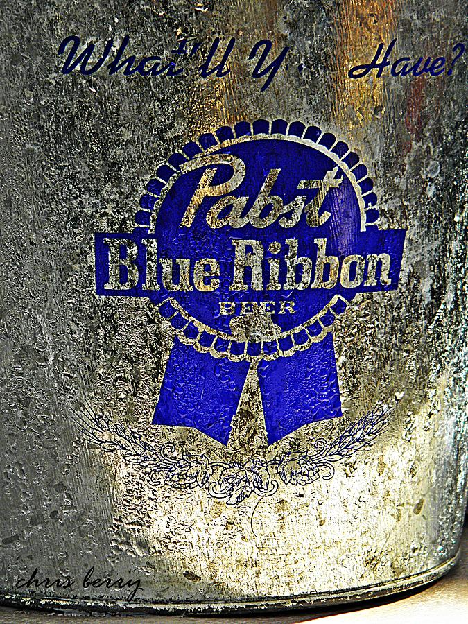 Adult Photograph - Pbr  Bucket O Beer  by Chris Berry