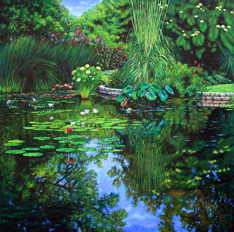 Landscape Painting - Peace Floods My Soul by John Lautermilch