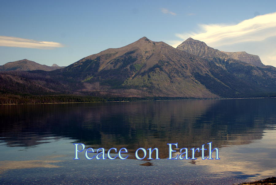 Photo Greeting Card Greeting Card - Peace On Earth 1 by Marty Koch