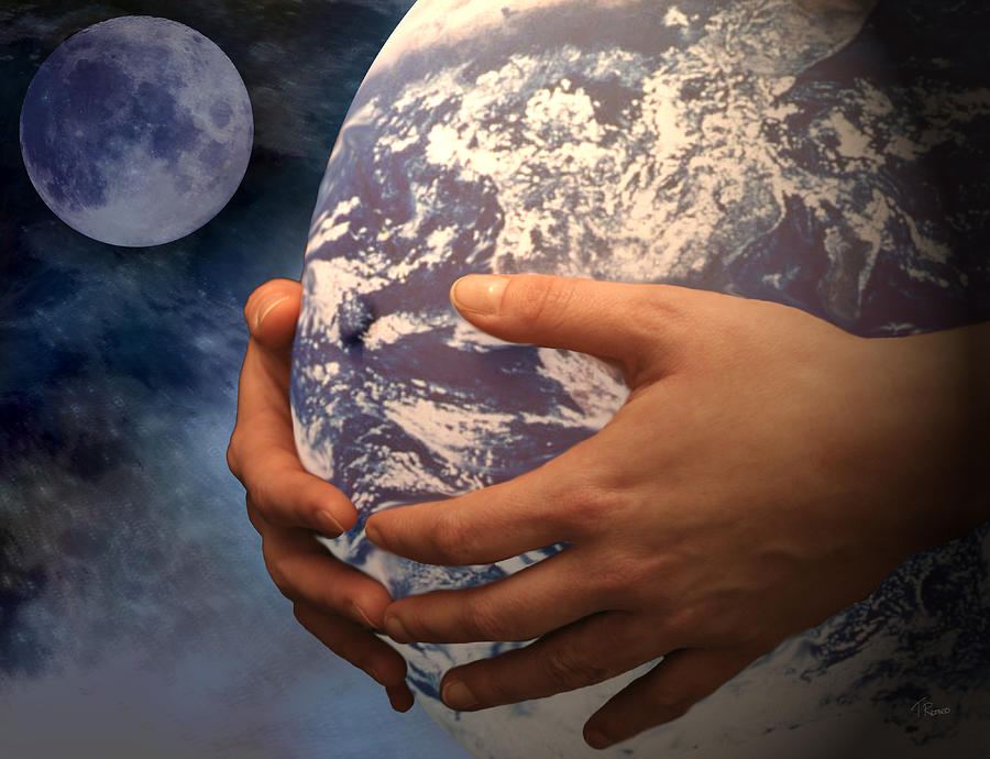 Peace Project Digital Art - Peace On Earth Gaia by Tom Romeo