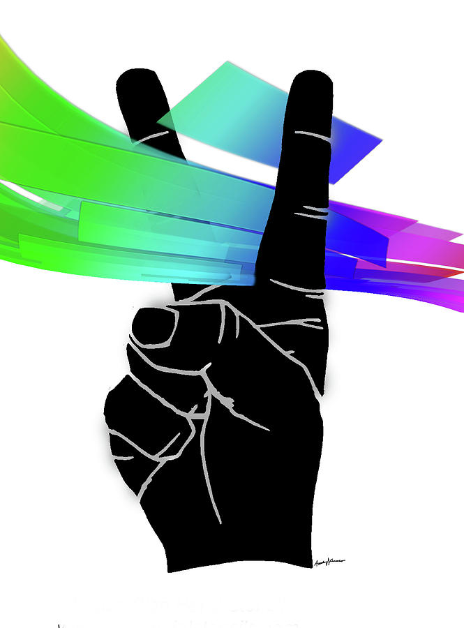 Poster Digital Art - Peace Ribbons by Anthony Caruso