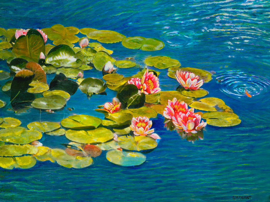 Water Lilies Painting - Peaceful Belonging by Michael Durst