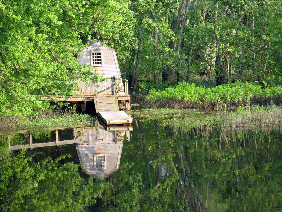Quaint Cabin Photograph - Peaceful Cabin by Desiree Schmidt