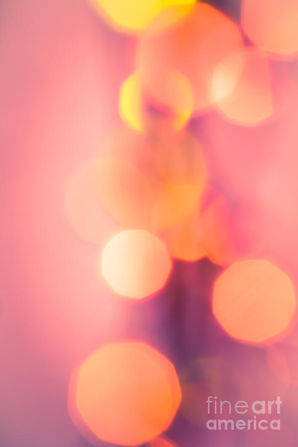 Abstract Photograph - Peach Melba by Jan Bickerton