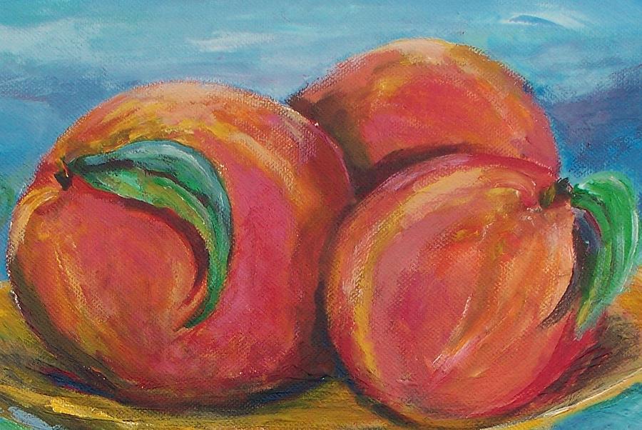 Peaches Painting - Peaches by Eric  Schiabor
