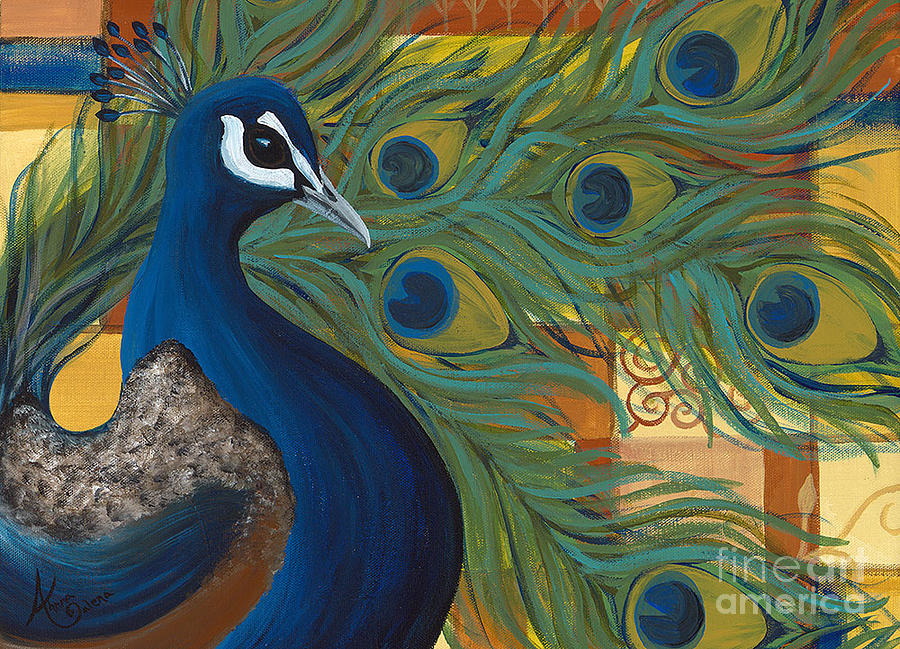 peacock painting by ahnna galena