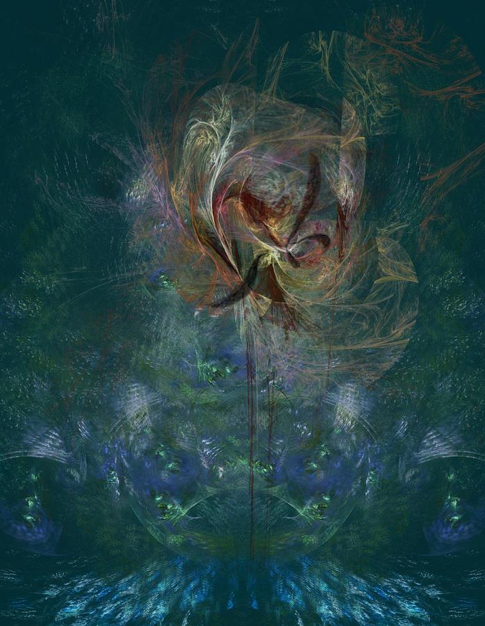 Peacock Orchid Digital Art