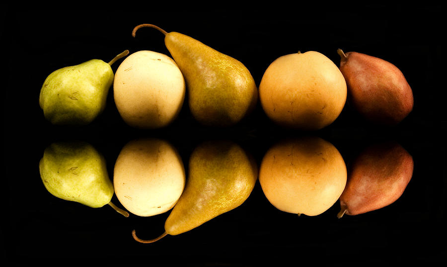 Fruit Photograph - Pear Reflections by Cabral Stock