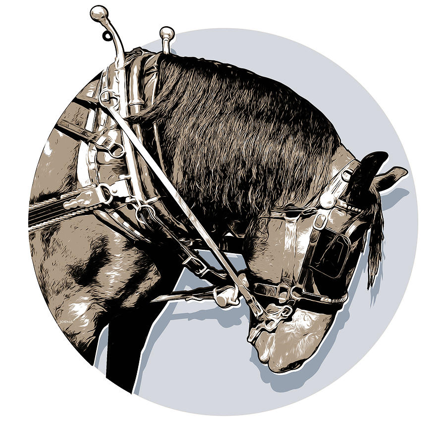 Pei Tour Horse Digital Art