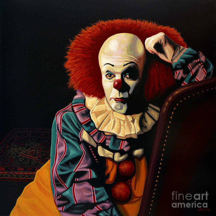 Pennywise Painting By Paul Meijering