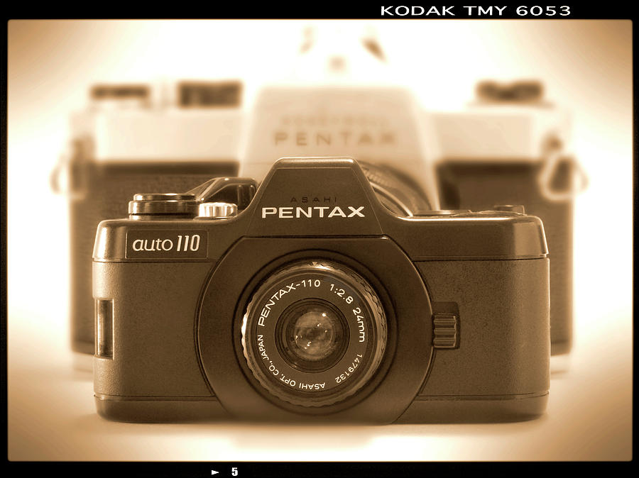 Vintage Pentax Photograph - Pentax 110 Auto by Mike McGlothlen
