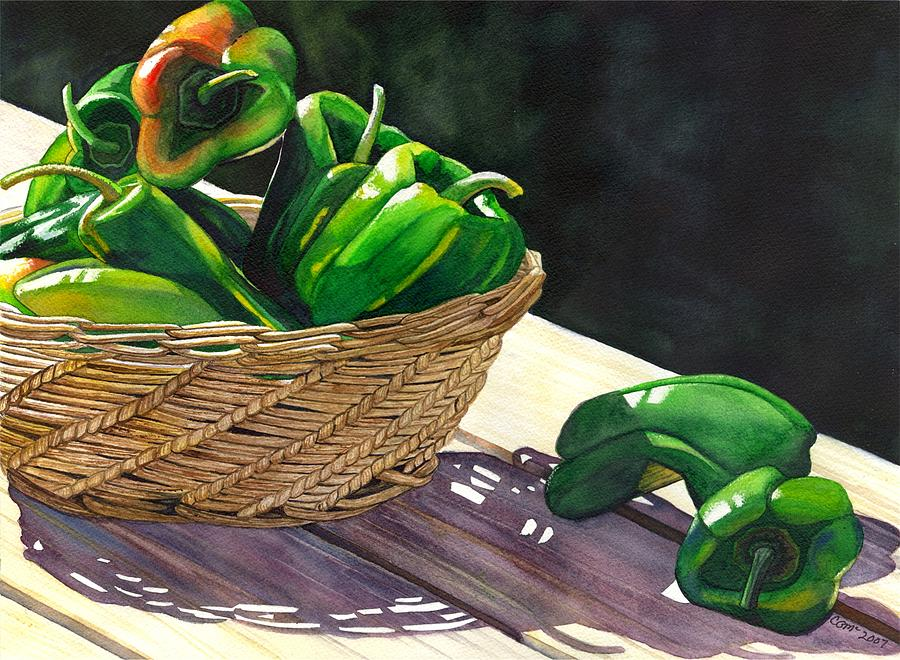 Peppers Painting - Peppers by Catherine G McElroy