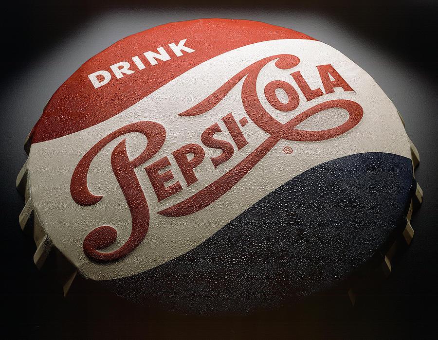 Cola Photograph - Pepsi Sign by Bob Nardi