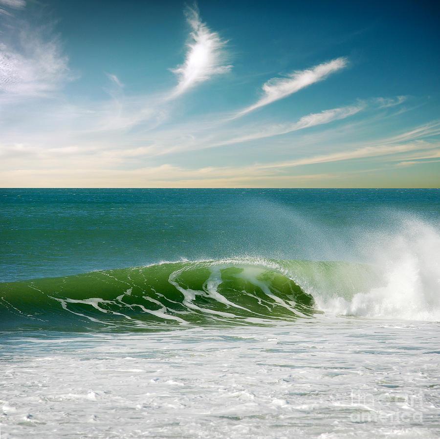 Atlantic Photograph - Perfect Wave by Carlos Caetano