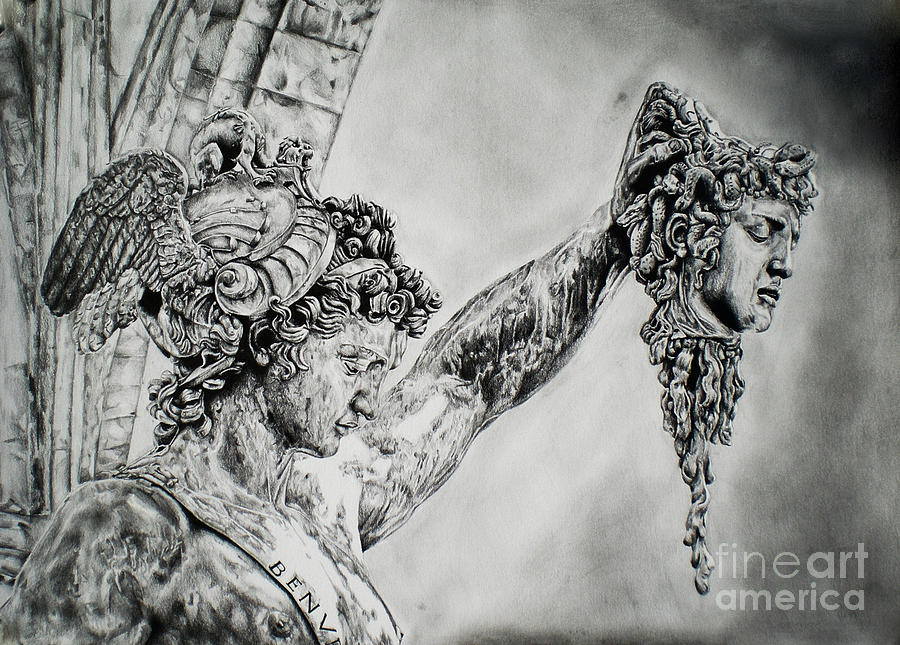 Perseus With The Head Of Medusa Painting by MotionAge Designs  |Perseus With The Head Of Medusa Painting