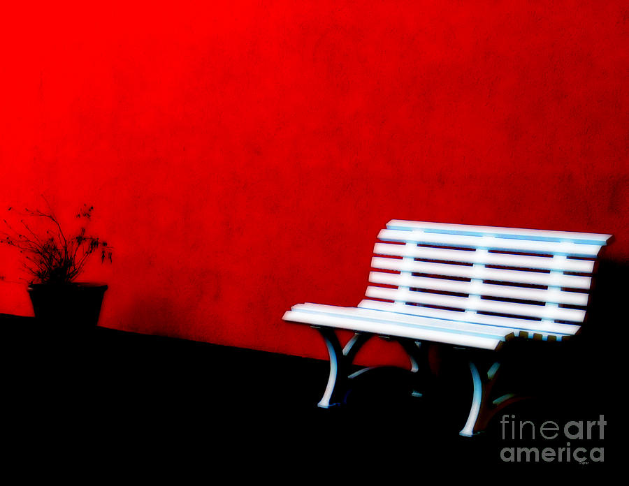 Bench Photograph - Perspective In Bench White   by Steven  Digman