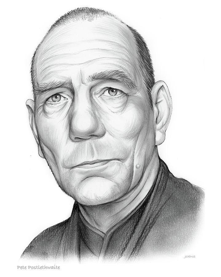 Pete Postlethwaite Drawing