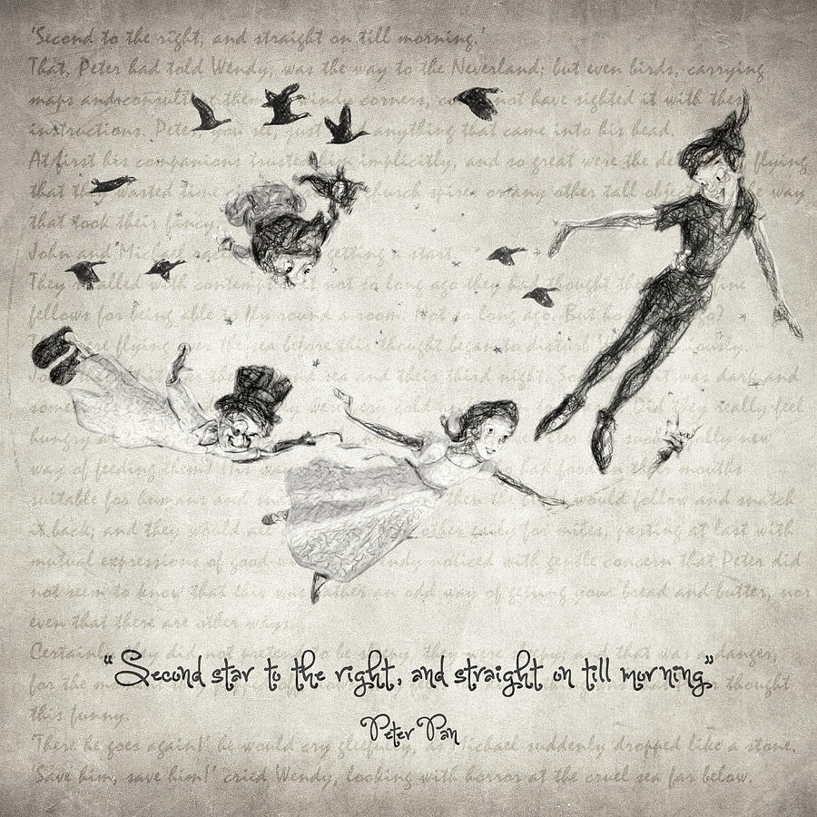 Peter Pan Quote Drawing