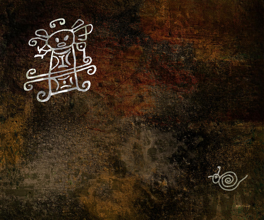 Petroglyph Digital Art - Petroglyph 8 by Bibi Romer