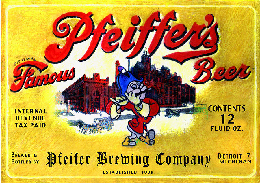 Pop Art Painting - Pfeiffers Beer by Don Thibodeaux