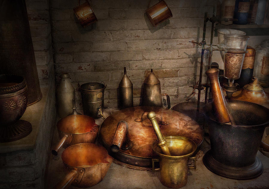 Hdr Photograph - Pharmacy - Alchemists Kitchen by Mike Savad
