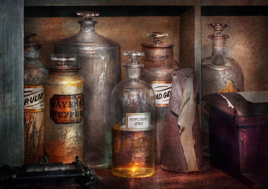 Hdr Photograph - Pharmacy - Thats The Spirit by Mike Savad