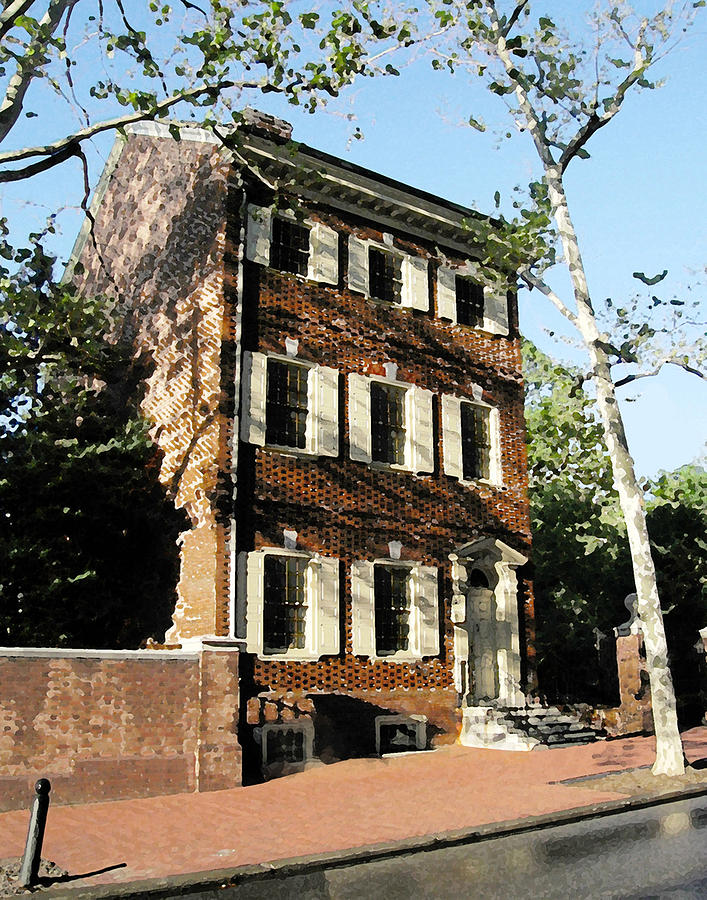 Phiily Row House 1 Mixed Media