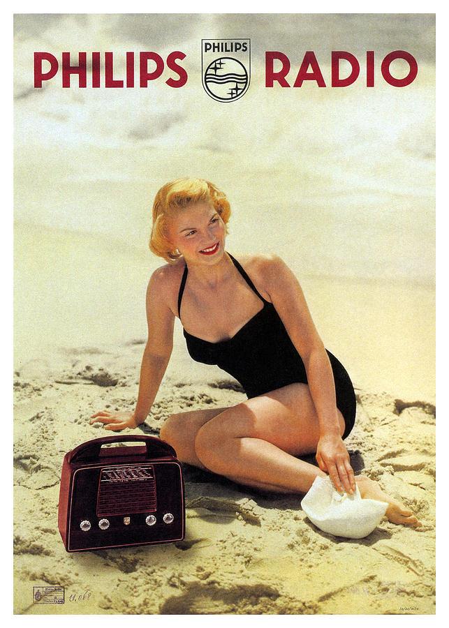 Philips Radio - Vintage Advertising Poster Mixed Media