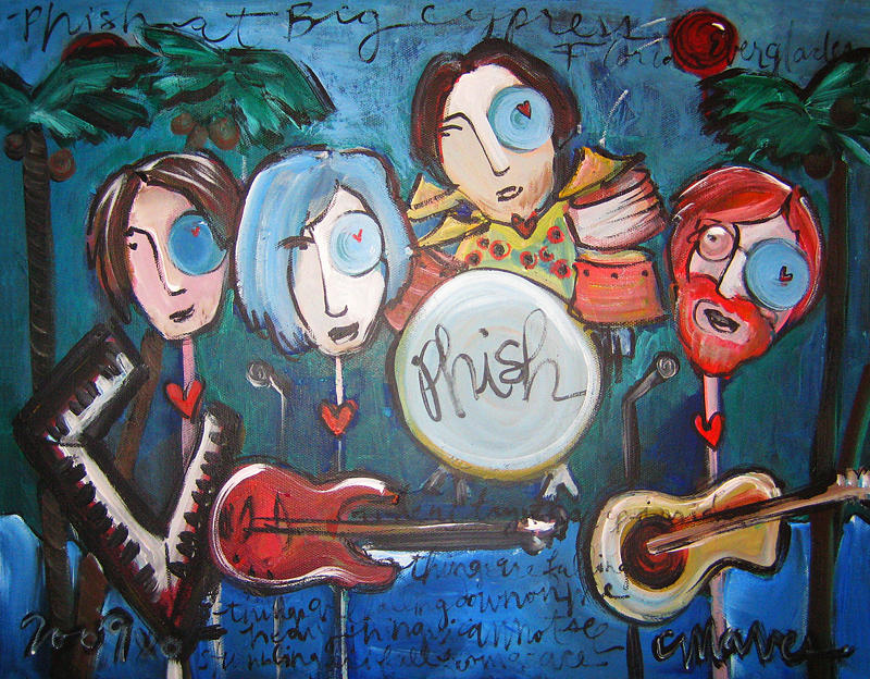 Phish Painting - Phish At Big Cypress by Laurie Maves ART