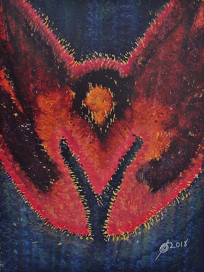 Phoenix Rising Original Painting Painting