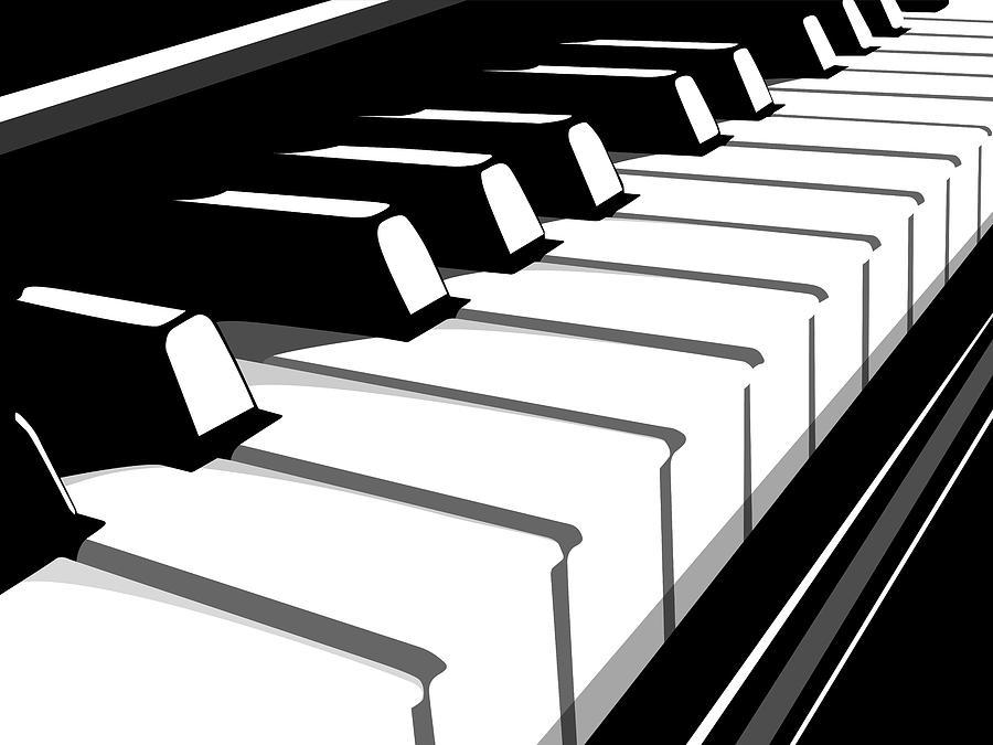 Piano Digital Art - Piano Keyboard No2 by Michael Tompsett