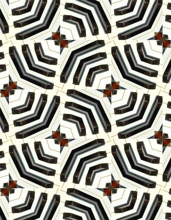 Acrylic Mixed Media - Piano Keys II by Maria Watt